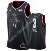 Houston Rockets 2019 Chris Paul 3# Svart All Star Game NBA Basketball Drakter Swingman..