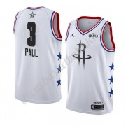 Houston Rockets 2019 Chris Paul 3# Hvit All Star Game NBA Basketball Drakter Swingman..