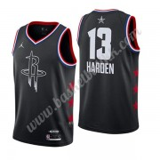 Houston Rockets 2019 James Harden 13# Svart All Star Game NBA Basketball Drakter Swingman..