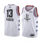 Houston Rockets 2019 James Harden 13# Hvit All Star Game NBA Basketball Drakter Swingman..