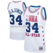 Houston Rockets Hakeem Olajuwon 34# Hvit 1989 All Star Hardwood Classics NBA Basketball Drakter..