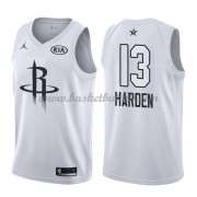 Houston Rockets James Harden 13# Hvit 2018 All Star Game NBA Basketball Drakter..