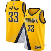 Barn Basketball Drakter Indiana Pacers 2019-20 Myles Turner 33# Gull Finished Statement Edition Swin..