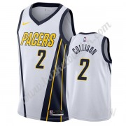 Barn Basketball Drakter Indiana Pacers 2019-20 Darren Collison 2# Hvit Earned Edition Swingman Drakt..