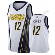 Barn Basketball Drakter Indiana Pacers 2019-20 Tyreke Evans 12# Hvit Earned Edition Swingman Drakt..