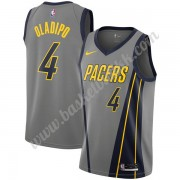 Indiana Pacers NBA Basketball Drakter 2019-20 Victor Oladipo 4# Grå City Edition Swingman Drakt..