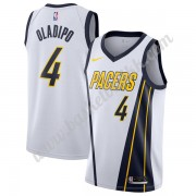 Indiana Pacers NBA Basketball Drakter 2019-20 Victor Oladipo 4# Hvit Earned Edition Swingman Drakt..