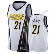 Indiana Pacers NBA Basketball Drakter 2019-20 Thaddeus Young 21# Hvit Earned Edition Swingman Drakt..