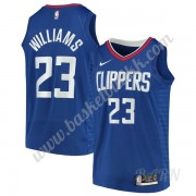Barn Basketball Drakter Los Angeles Clippers 2019-20 Lou Williams 23# Blå Icon Edition Swingman Drak..