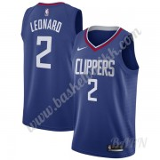 Barn Basketball Drakter Los Angeles Clippers 2019-20 Kawhi Leonard 2# Blå Icon Edition Swingman Drakt