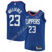 Los Angeles Clippers NBA Basketball Drakter 2019-20 Lou Williams 23# Blå Icon Edition Swingman Drakt..