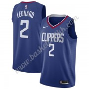 Los Angeles Clippers NBA Basketball Drakter 2019-20 Kawhi Leonard 2# Blå Icon Edition Swingman Drakt..
