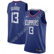 Los Angeles Clippers NBA Basketball Drakter 2019-20 Paul George 13# Blå Icon Edition Swingman Drakt..