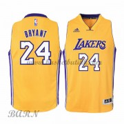 Barn Basketball Drakter Los Angeles Lakers 2015-16 Kobe Bryant 24# Gold Hjemme