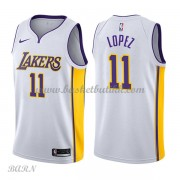 Barn Basketball Drakter Los Angeles Lakers 2018 Brook Lopez 11# Association Edition Swingman..