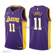 Barn Basketball Drakter Los Angeles Lakers 2018 Brook Lopez 11# Statement Edition Swingman..