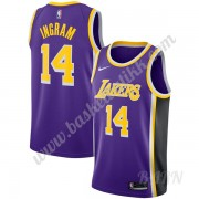 Barn Basketball Drakter Los Angeles Lakers 2019-20 Brandon Ingram 14# Purple Statement Edition Swing..