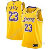 Barn Basketball Drakter Los Angeles Lakers 2019-20 LeBron James 23# Gull Icon Edition Swingman Drakt
