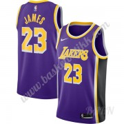 Barn Basketball Drakter Los Angeles Lakers 2019-20 LeBron James 23# Purple Replica Statement Edition..