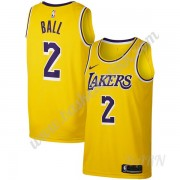 Barn Basketball Drakter Los Angeles Lakers 2019-20 Lonzo Ball 2# Gull Icon Edition Swingman Drakt..