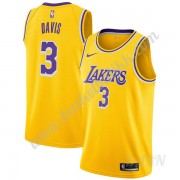 Barn Basketball Drakter Los Angeles Lakers 2019-20 Anthony Davis 3# Gull Icon Edition Swingman Drakt