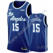 Barn Basketball Drakter Los Angeles Lakers 2019-20 DeMarcus Cousins 15# Blå Classics Edition Swingma..