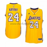 Los Angeles Lakers NBA Basketball Drakter 2015-16 Kobe Bryant 24# Gold Hjemme Drakt..