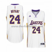 Los Angeles Lakers NBA Basketball Drakter 2015-16 Kobe Bryant 24# White Hjemme Drakt..