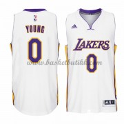 Los Angeles Lakers NBA Basketball Drakter 2015-16 Nick Young 0# White Hjemme Drakt..