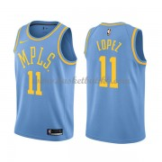 Los Angeles Lakers NBA Basketball Drakter 2018 Brook Lopez 11# Light Blue Hardwood Classics..