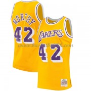 Los Angeles Lakers Mens 1984-85 James Worthy 42# Gold Hardwood Classics..