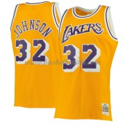 Los Angeles Lakers Mens 1984-85 Magic Johnson 32# Gold Hardwood Classics..