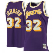 Los Angeles Lakers Mens 1984-85 Magic Johnson 32# Purple Hardwood Classics..