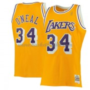 Los Angeles Lakers Mens 1996-97 Shaquille O'Neal 34# Gold Hardwood Classics..