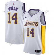 Los Angeles Lakers NBA Basketball Drakter 2019-20 Brandon Ingram 14# Hvit Association Edition Swingman Drakt