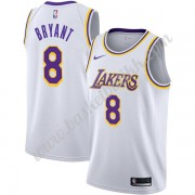 Los Angeles Lakers NBA Basketball Drakter 2019-20 Kobe Bryant 8# Hvit Association Edition Swingman Drakt