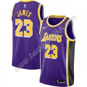 Los Angeles Lakers NBA Basketball Drakter 2019-20 LeBron James 23# Purple Replica Statement Edition Swingman Drakt