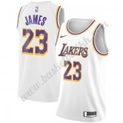 Los Angeles Lakers NBA Basketball Drakter 2019-20 LeBron James 23# Hvit Association Edition Swingman Drakt