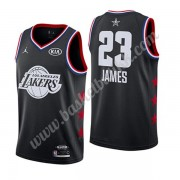Los Angeles Lakers 2019 Lebron James 23# Svart All Star Game NBA Basketball Drakter Swingman..
