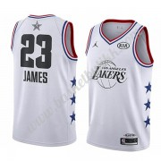 Los Angeles Lakers 2019 Lebron James 23# Hvit All Star Game NBA Basketball Drakter Swingman..