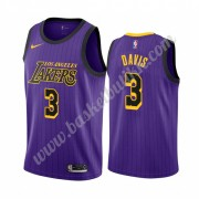 Los Angeles Lakers NBA Basketball Drakter 2019-20 Anthony Davis 3# Purple City Edition Swingman Drakt