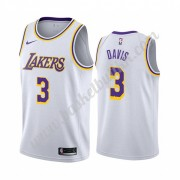 Los Angeles Lakers NBA Basketball Drakter 2019-20 Anthony Davis 3# Hvit Association Edition Swingman..