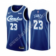 Los Angeles Lakers NBA Basketball Drakter 2019-20 LeBron James 23# Blå Classics Edition Swingman Dra..