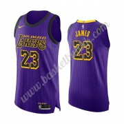 Los Angeles Lakers NBA Basketball Drakter 2019-20 LeBron James 23# Purple City Edition Swingman Drak..