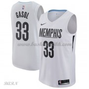 Barn Basketball Drakter Memphis Grizzlies 2018 Marc Gasol 33# City Edition Swingman..