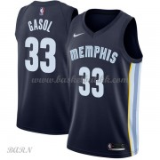 Barn Basketball Drakter Memphis Grizzlies 2018 Marc Gasol 33# Icon Edition Swingman..