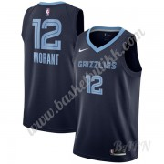 Barn Basketball Drakter Memphis Grizzlies 2020 Ja Morant 12# Marinen Icon Edition Swingman Drakt..