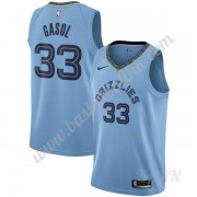 Barn Basketball Drakter Memphis Grizzlies 2019-20 Marc Gasol 33# Lyse Blå Statement Edition Swingman..