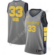 Barn Basketball Drakter Memphis Grizzlies 2019-20 Marc Gasol 33# Grå City Edition Swingman Drakt..