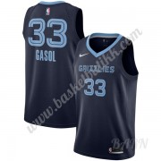 Barn Basketball Drakter Memphis Grizzlies 2019-20 Marc Gasol 33# Marinen Icon Edition Swingman Drakt..